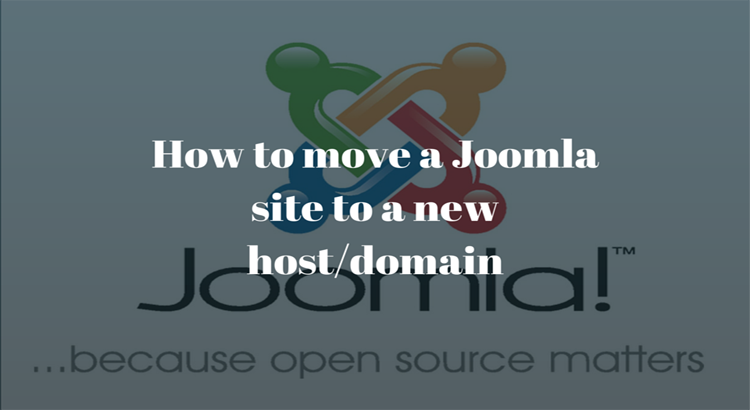 how to move joomla to a new domain