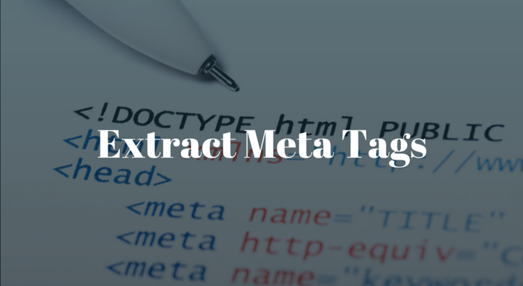 Extract Meta Tags