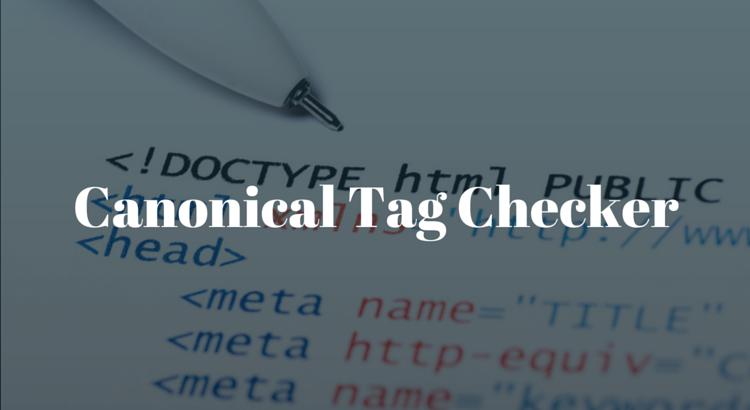 Canonical Tag Checker