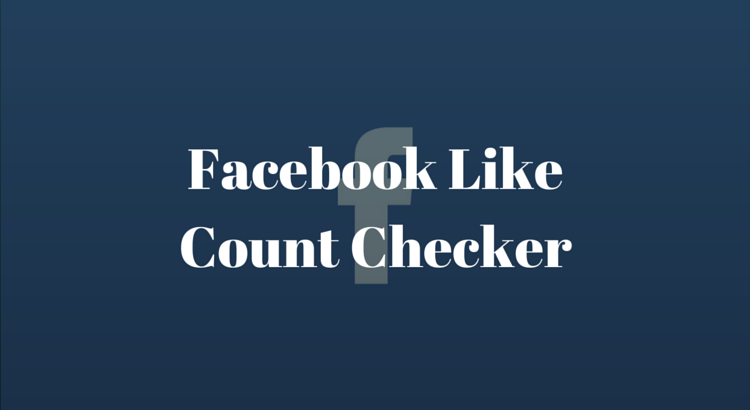Facebook Like Count Checker