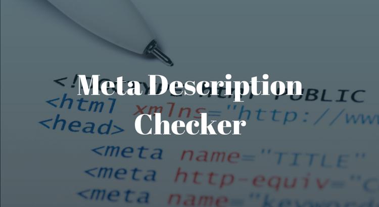 Meta Description Checker