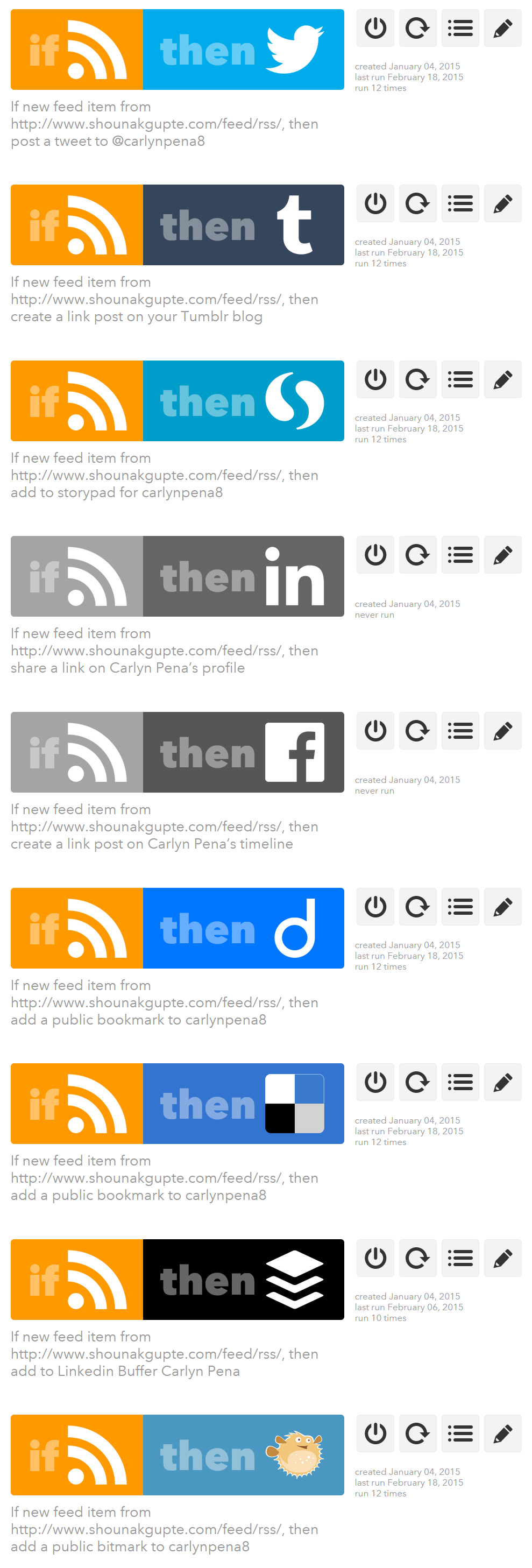 IFTTT - Free alternative to onlywire and syndwire