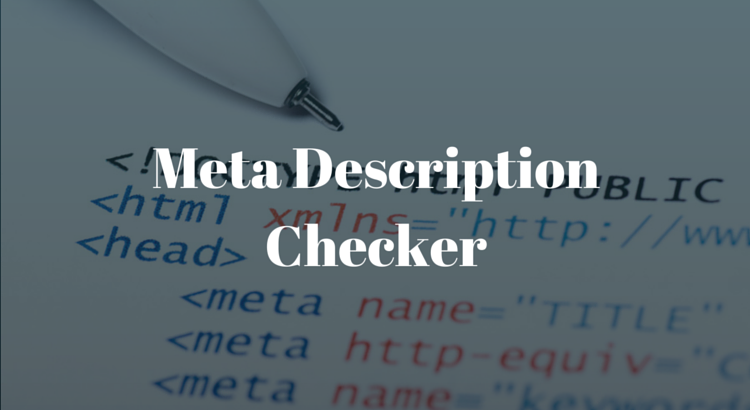 Meta Description Checker