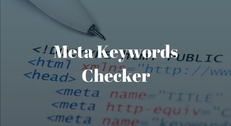 Meta Keywords Checker